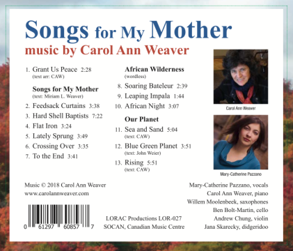 Songs for Mother traycard2